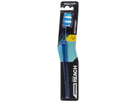 Listerine Designed By Reach Between Toothbrush Medium 1 Pack