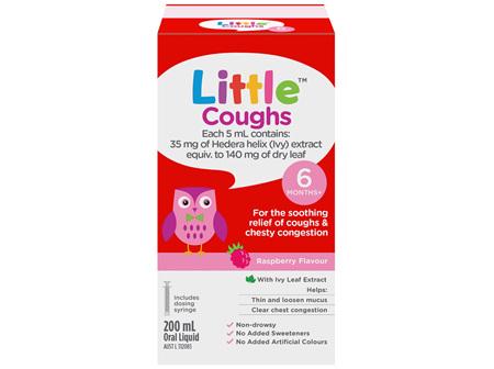Little Coughs Oral Liquid Raspberry 200mL