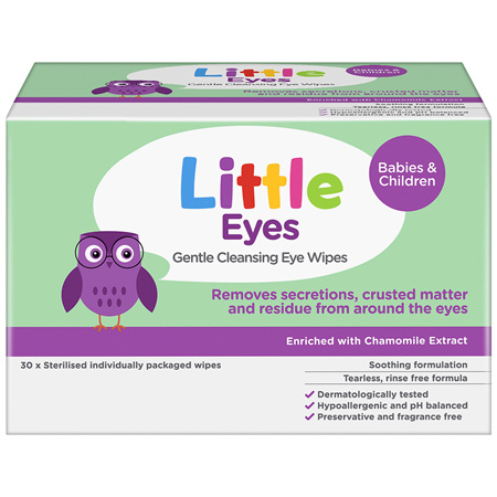 Little Eyes Gentle Cleansing Eye Wipes 30 Pack