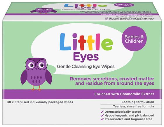 Little Eyes Gentle Cleansing Eye Wipes 30 Pack