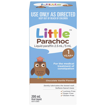 Little Parachoc Liquid Paraffin Chocolate Vanilla 200mL