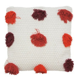 Livvi Cushion - Red & Burnt Orange 45x45cm