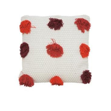 Livvi Cushion - Red & Burnt Orange 45x45cm