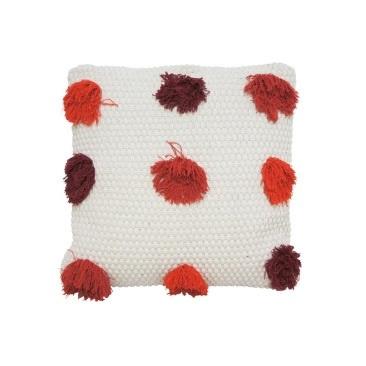 Livvi Cushion - Red & Burnt Orange 55x55cm