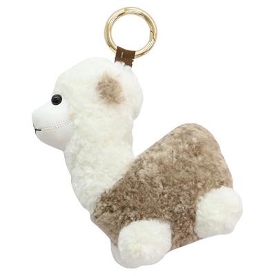 Llama Key Ring - Taupe