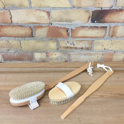 Long Handle Wooden Body Brush