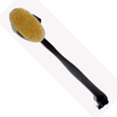 Long Handle Wooden Body Brush - Black