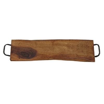 Long Wooden Board w Metal Handles