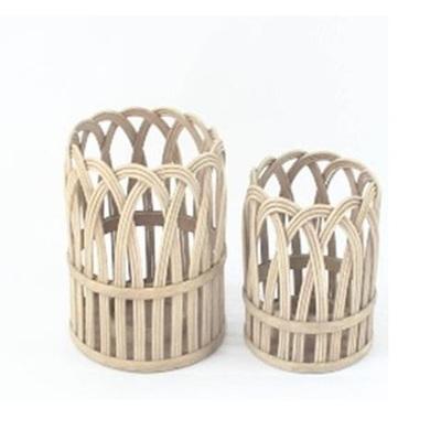 Loop Bamboo Lantern - White