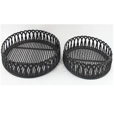 Loop Bamboo & Metal Table - Black