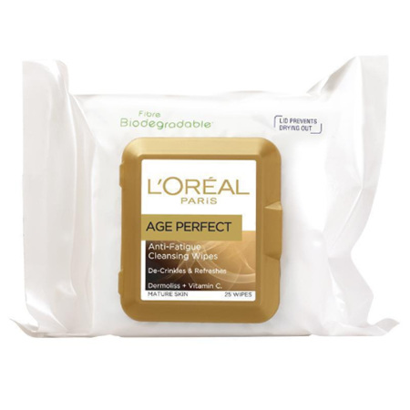 LOREAL Age Perfect Cleansing Wipes 25pk