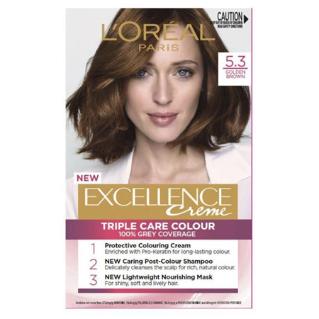 LOREAL EXCELLENCE Hair Colour 5.3 Gold Brown