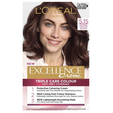 LOREAL EXCELLENCE Hair Colour 5.15 Natural Frosted Brown