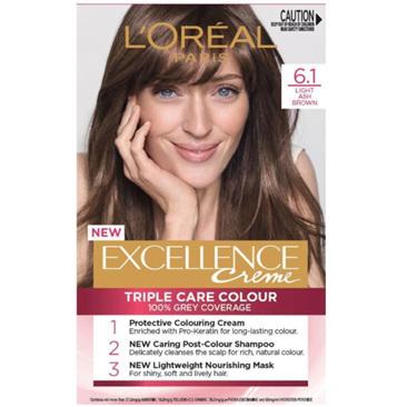 LOREAL EXCELLENCE Hair Colour 6.1 Light Ash Brown