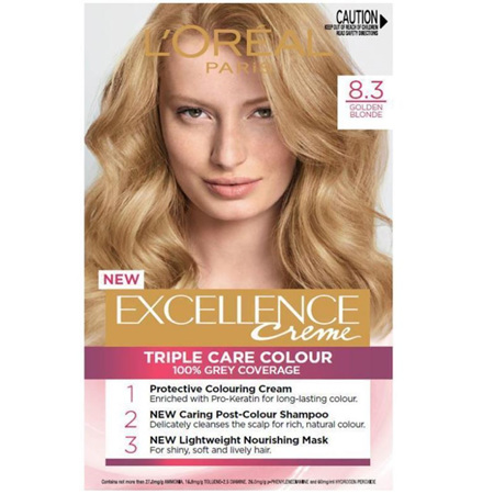 LOREAL EXCELLENCE Hair Colour 8.3 Gold Blonde