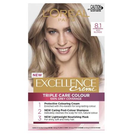 LOREAL EXCELLENCE Hair Colour 8.1 Ash Blonde