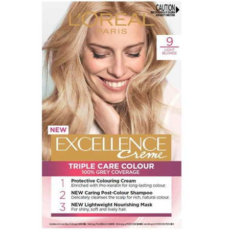 LOREAL EXCELLENCE Hair Colour 9 Light Blonde