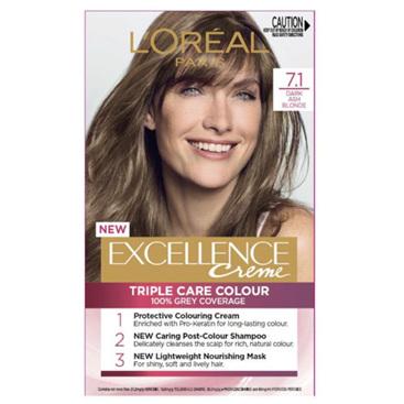 LOREAL EXCELLENCE H/C 7.1 Dk Ash Blonde