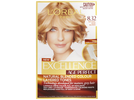 L'Oréal Paris Excellence Age Perfect Permananent Hair Colour - 8.32 Natural Rose Blonde (Natural