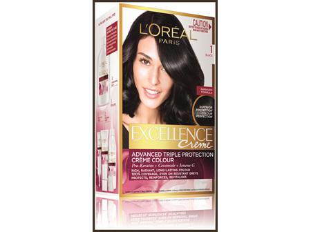 L'Oréal Paris Excellence Permanent Hair Colour - 1 Black (100% Grey Coverage)