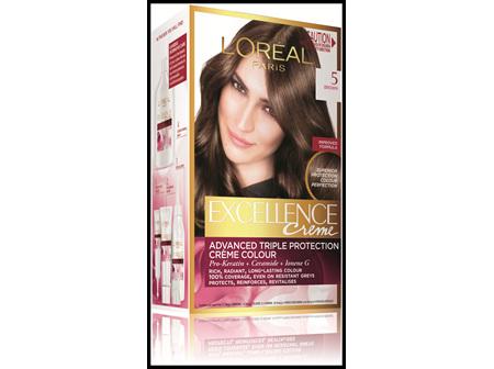 L'Oréal Paris Excellence Permanent Hair Colour - 5 Brown (100% Grey Coverage)