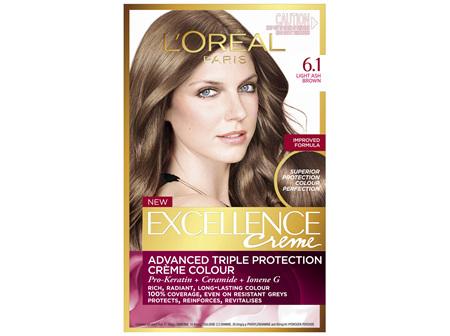 L'Oréal Paris Excellence Permanent Hair Colour - 6.1 Light Ash Brown (100% Grey Coverage)