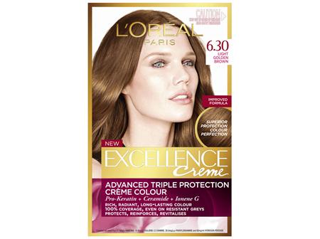L'Oréal Paris Excellence Permanent Hair Colour - 6.3 Light Golden Brown (100% Grey Coverage)