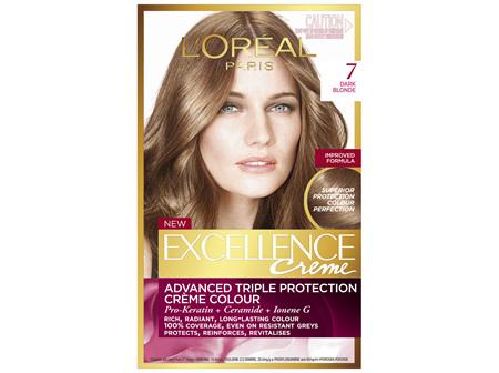 L'Oréal Paris Excellence Permanent Hair Colour - 7 Dark Blonde (100% Grey Coverage)