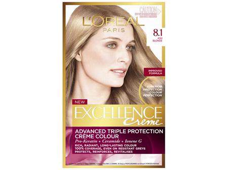 L'Oréal Paris Excellence Permanent Hair Colour - 8.1 Medium Ash Blonde (100% Grey Coverage)