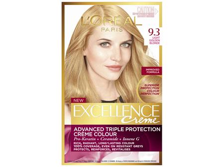 L'Oréal Paris Excellence Permanent Hair Colour - 9.3 Light Golden Blonde (100% Grey Coverage)