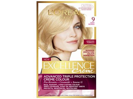 L'Oréal Paris Excellence Permanent Hair Colour - 9 Light Natural Blonde (100% Grey Coverage)