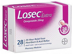 Losec Extra 20mg Tablets 28