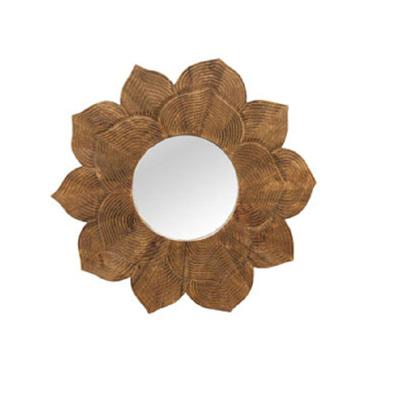 Lotus Wooden Mirror - Natural 92cmd