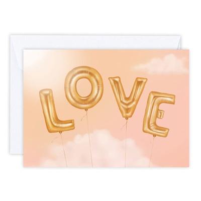 Love Balloon Greeting Card