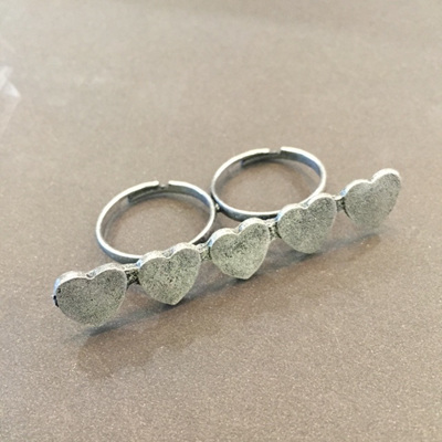 Love Heart Double Ring