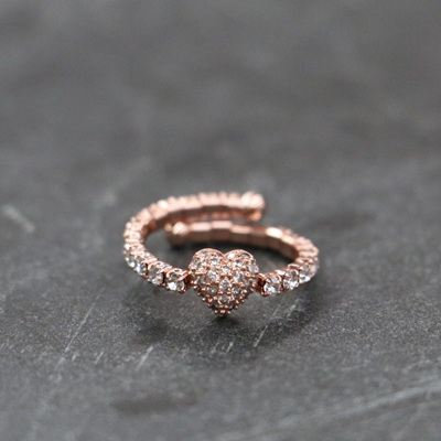 Loveheart Ring - Rose Gold