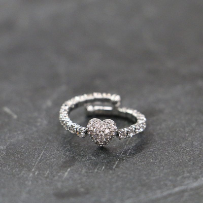 Loveheart Ring - Silver