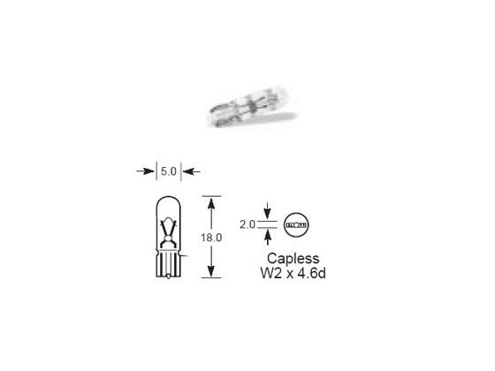 Lucas 6v 1.2W Capless Bulb LLB285