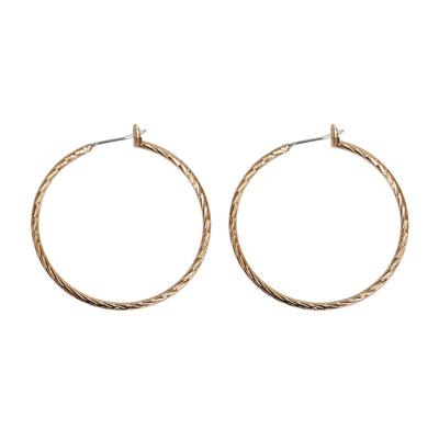Lucca Hoop Earrings - Rose Gold