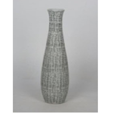Lulu Ceramic Vase - Grey & White/Medium