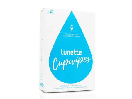 LUNETTE CUP WIPES 10PK