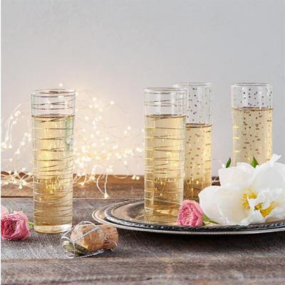 Luxe Moderne Champagne Flute asstd set of 4
