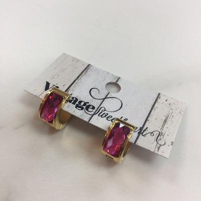 Luxury Crystal Earrings - Fuschia