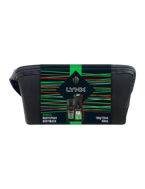 Lynx Africa Duo + Wash Bag Xmas19