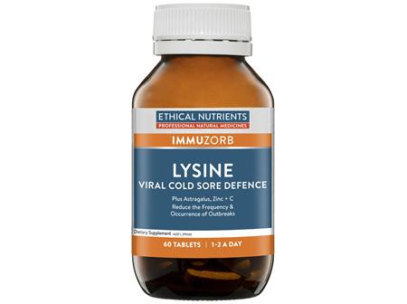 Lysine Cold Sore Defence 60 Tablets