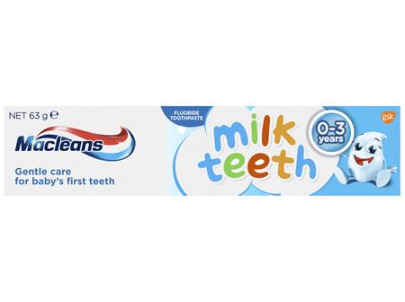 Maclean's Milk Teeth Fluoride Toothpaste for 0-3 years 63g