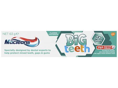 Macleans My Big Teeth Toothpaste 7+ Years 63g