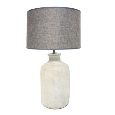 Madelon Ceramic Concrete Look Table Lamp 61cm