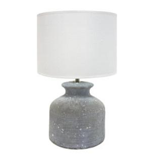 Madie Ceramic Concrete Look Table Lamp 42cm