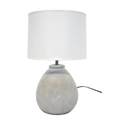 Maelee Ceramic Concrete Look Table Lamp 42cm
